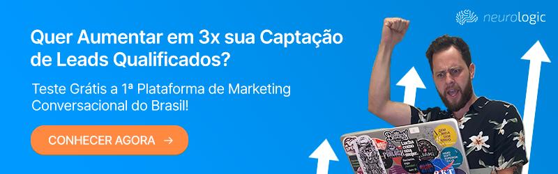Banner da Neurologic informando sobre teste grátis para a 1ª plataforma de marketing conversacional do Brasil